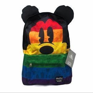 Loungefly Disney Parks Mickey Rainbow Backpack